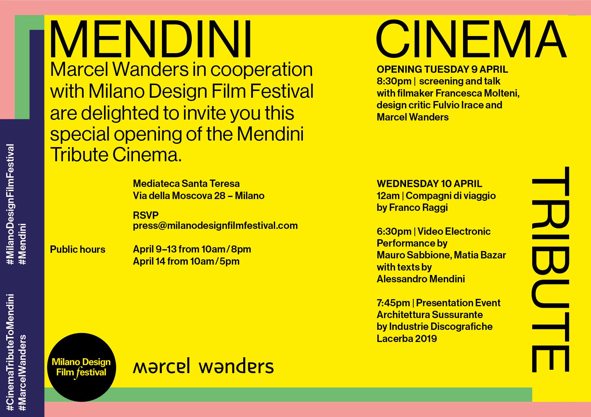 Compagni di viaggio - Mendini Tribute Cinema