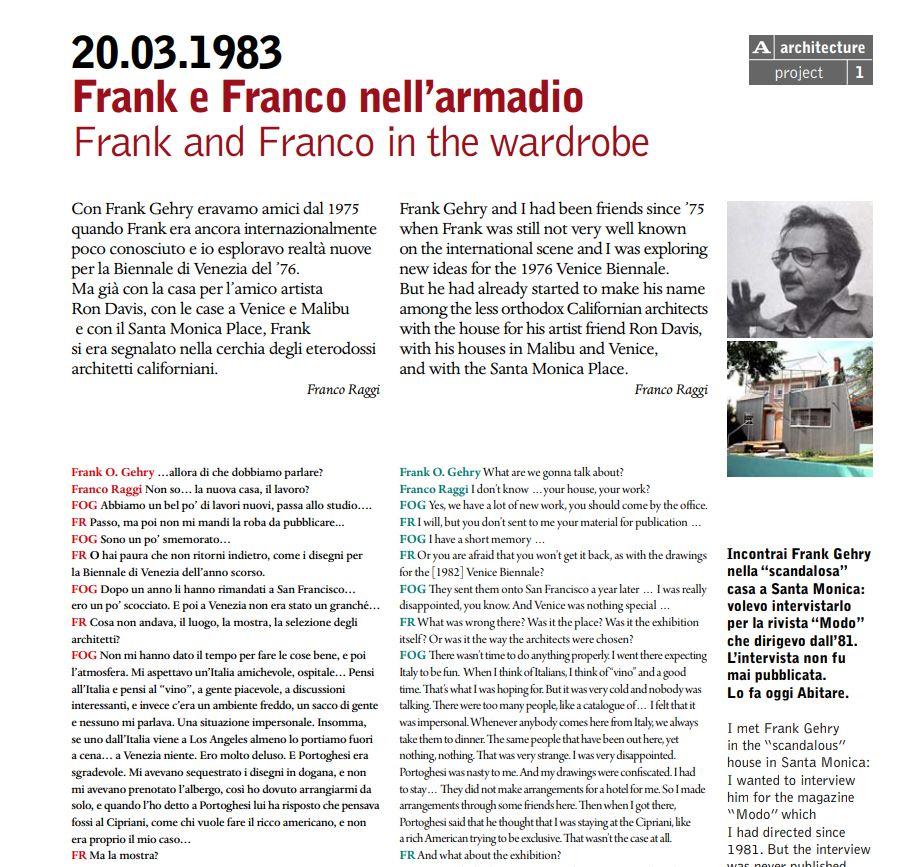 Frank e Franco nell'armadio